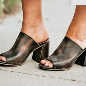 Freebird by Steven Trina Leather Mules